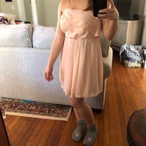 Express strapless chiffon dress
